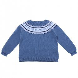 Georges Soft And Warm Blue Jumper