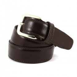 Boys Brown Belt Made In Spain 100% Leather