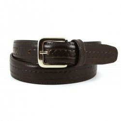 Boys Brown Belt With Pattern Made In Spain 100% Leather