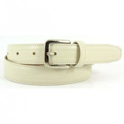 Boys Ivory Belt With Pattern 100% Leather