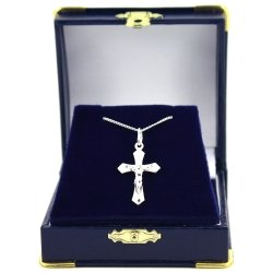 Communion Or Confirmation Gift Silver Crucifix Necklace