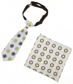 6m 24m Baby Boys Tie Green And White Circles Pattern