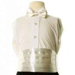 Boys ivory cummerbund and bow tie set 3yrs To 8yrs