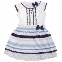Sale Spanish Girls Ivory Navy Top And Skirt Outfit Navy Lace Navy Bows