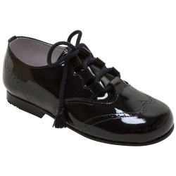Boys Black Patent Brogue Shoes