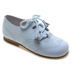Boys Blue Patent Brogue Shoes