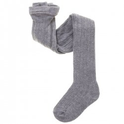 9cec91fd85c Light Grey Ribbed Tights From Carlomagno