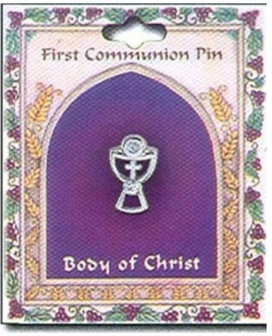 First Communion Gift Silver Chalice Pin Or Brooch