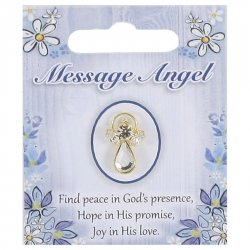 Glass Message Angel Communion Pin or Brooch