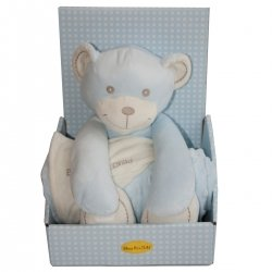 Blue Bear And Blanket Gift Set