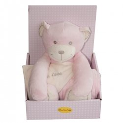 Bless This Child Pink Bear And Blanket Gift Set