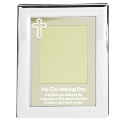 Silver Plated My Christening Day Photo Frame