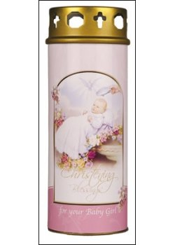 Christening Candles for Baby Girls