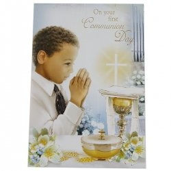 Boys On Your First Communion Day Gift Card