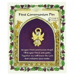 First Communion Angel Pin or Brooch