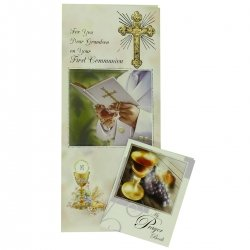 For You Dear Grandson Communion Card With Colour Illustrated Communion Book