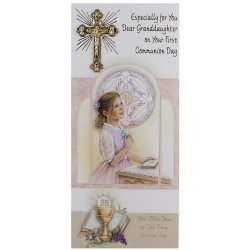 My Granddaughter First Holy Communion Card