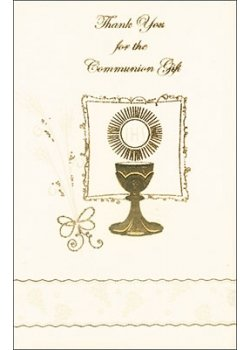 Pack of 12 Communion Thank You Cards