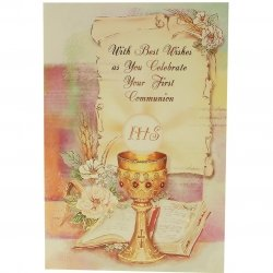 Best Wishes As You Celerate Communion Card