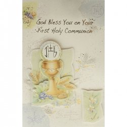 God Bless You Communion Card
