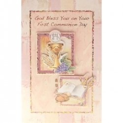God Bless You On Your First Communion Card