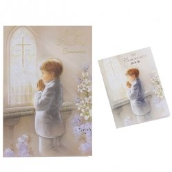 Boys Communion Card With Colour Illustrated Communion Book