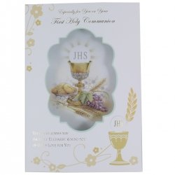 First Holy Communion Card With 3D Pillow Effect