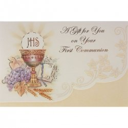 Holy Communion Gift Token Or Gift Money Holder Card
