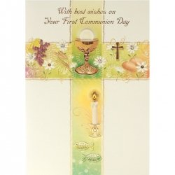 Hand Crafted Best Wishes Communion Card