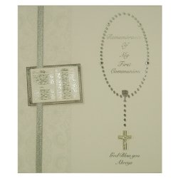 Remembrance Of My First Communion Keepsake Card