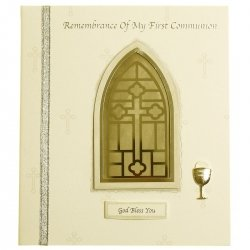 Handcrafted Remembrance of My First Communion Keepsake card