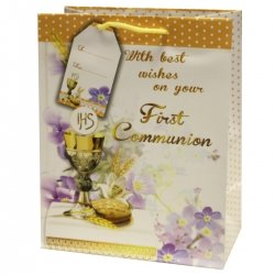 Small First Holy Communion Gift Paper Carry Bag