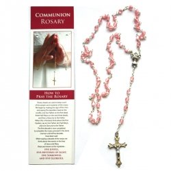 Pink Rosary On How To Pray The Rosary Card
