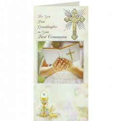 Dear Granddaughter On Your First Communion Keepsake Card
