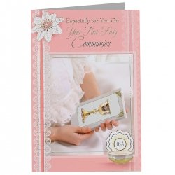 Girls Especially For On Your First Holy Communion Greeting Card
