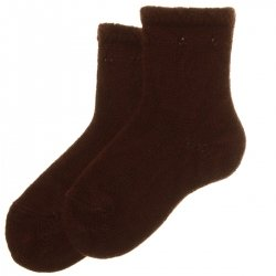 Soft And Warm High Quality Spanish Baby Boys Socks In Brown