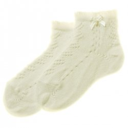 High Quality Spanish Baby Girls Ivory Socks
