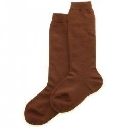 Quality Spanish Plain Knee High Brown Socks