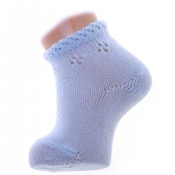 Condor Baby Blue Spring Pattern Cuff Short Ankle Summer Socks