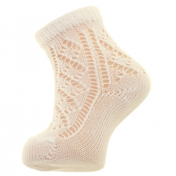 Openwork Ivory Short Ivory Socks By Condor