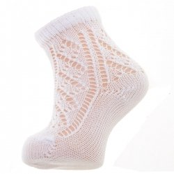 Openwork White Short Socks For Baby Girls And Boys