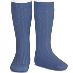 14bd238d39d5c French Blue Knee High Ribbed Socks For Boys And Girls Spanish Socks By  Condor