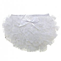 Tutu Baby Girls Frilly White Knickers With Bow