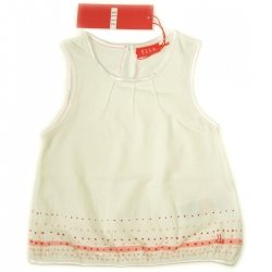 E05534 ELLE girl t shirt in IVORY