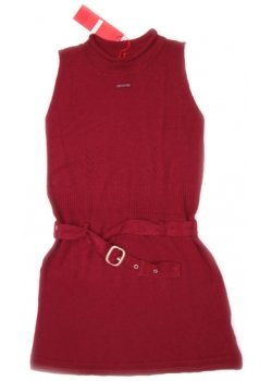 ELLE E12242 Maroon Colour Dress