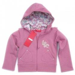 SALE ELLE E15622 hooded jacket in deep pink