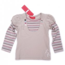 ELLE E15629 girl top purple stripes