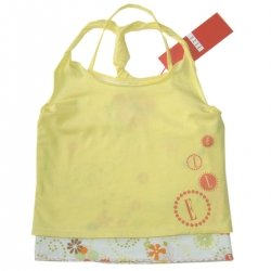 SALE E15686 ELLE girl vest in lemon