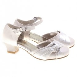Special Occasions Girls White Party Shoes