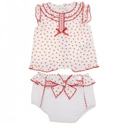 Dolce Petit 2018 Spring Summer Baby Girls White Red Top And Shorts Set